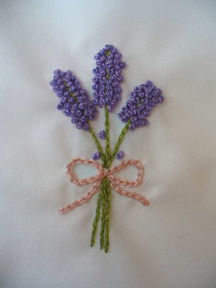 Last Minute Gift – Super Easy Lavender Embroidery Embellishment | SewHappyGeek