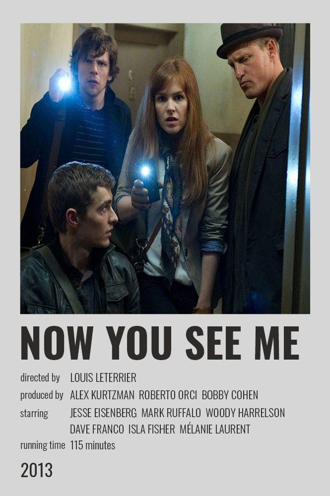 Now You See Me Polaroid Poster Movie Posters Minimalist Mark Ruffalo Film Inspiration