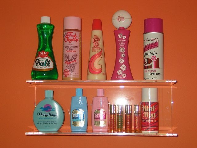 Shampoos...Prell, Body on Tap, Silkience, Tame, Protein 21, Herbal Essence, Gee Your Hair Smells Terrific, Faberge Organics, Sunshine Harvest, Flex, Breck, Earth Born, Short & Sassy, Pert, Wella Balsam, White Rain, Finesse.....