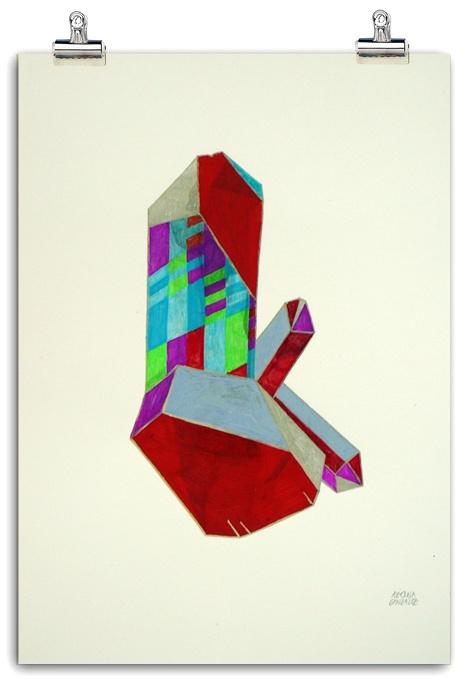 Quarz Rainbow I. 2012 by Azucena González, via Behance