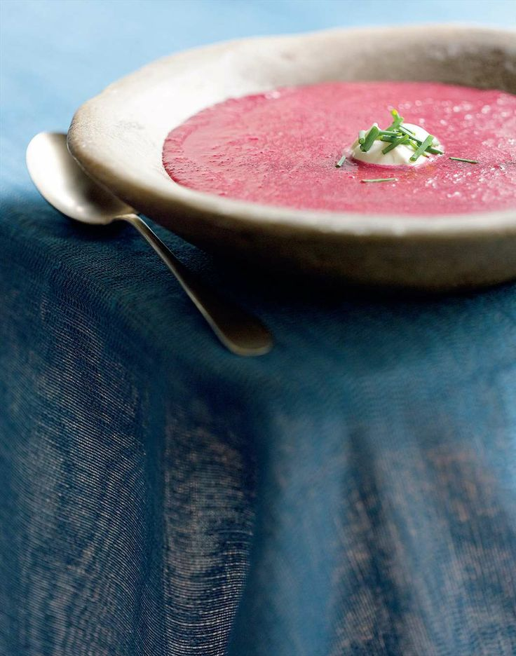 Roasted beetroot soup with a dollop of yoghurt by Jane Kennedy from Fabulous Food Minus the Boombah | Cooked