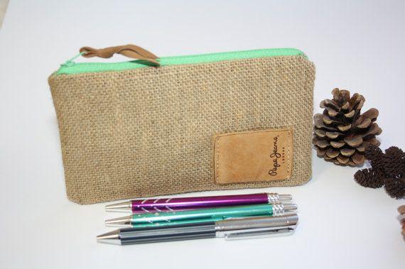 Natuurlijke jute cosmetische zakken make-up tassen  door TASAMA