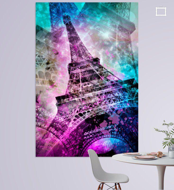 Pop Art Eiffelturm von Melanie Viola  #Paris #wandbild #modern #shopping #art #wohnen #kunst #typisch #Eiffelturm #eiffeltower #digitalart #digitalartist #popart #pink