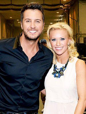 Luke Bryan's Wife Caroline Jokes: I Had to Kiss Him First. ughhhh give me a guy like Luke!