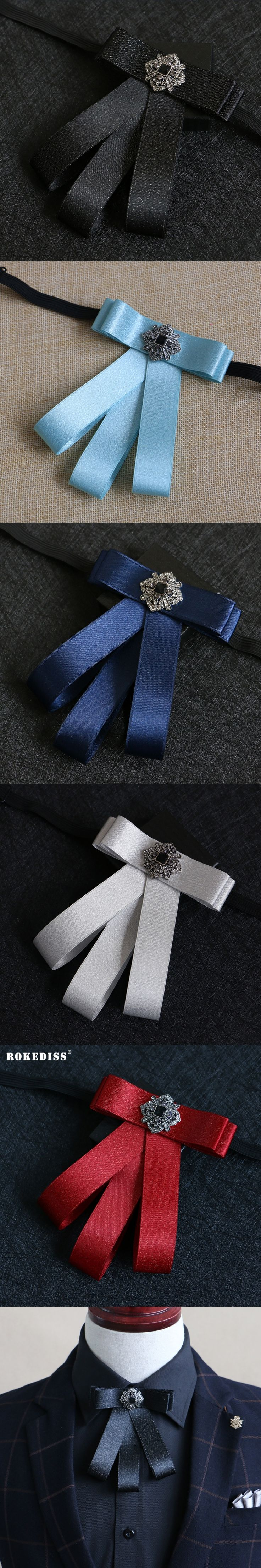 ROKEDISS High-end British bow tie men and women dress up the flower groom with the best collar bow tie Korean bow tie flowers