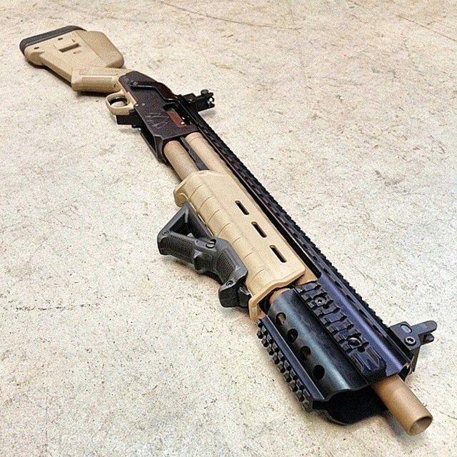Custom Mossberg 500 in Magpul Flat Dark Earth