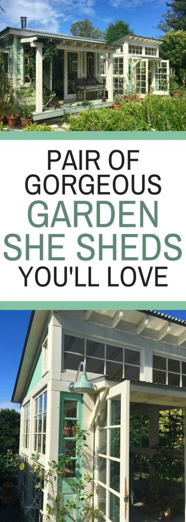 Pair of Gorgeous Garden She Sheds You'll Love - Gardening Shed Ideas You'll Want to DIY Yourself!