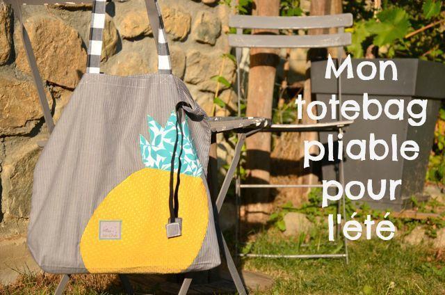 Mes sacs de l'été : exit le panier en osier et vive le tote bag pliable, by MissSa.Cha créations