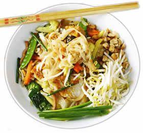 Vegetarian Pad Thai with Peanut Sauce Recipe from TempleofThai.com, online Thai grocery