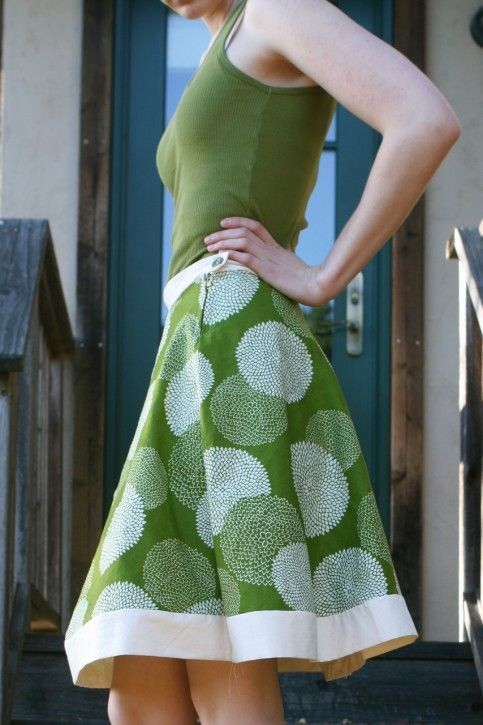 Hemless A-line skirt tutorial and pattern
