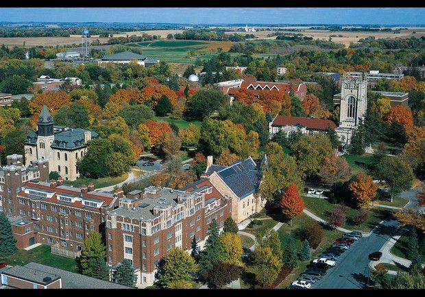 Carleton College - view of my freshman year dorm room on 4th Davis.