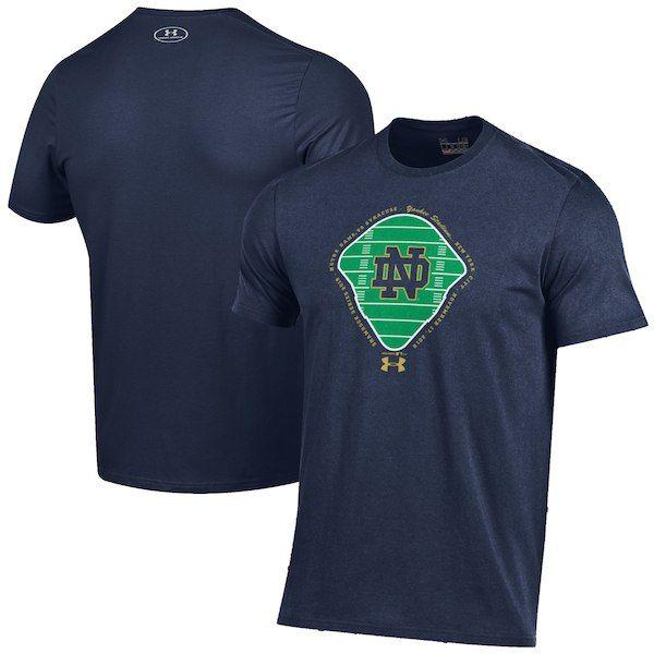 Notre Dame Fighting Irish Under Armour 2018 Shamrock Series Field Charged  Cotton T-Shirt Navy fff7d2569