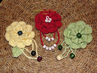 My Crochet , Mis Tejidos by Luna: Broches,Prendedores o Pins ,Flores tejidas.