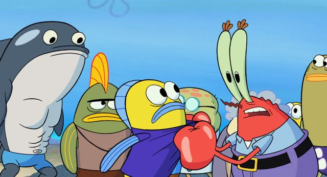 Scenes from the upcoming Spongebob Squarepants movie: Sponge out of water (coming in 2015)