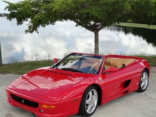 S Red Ferrari F Convertible