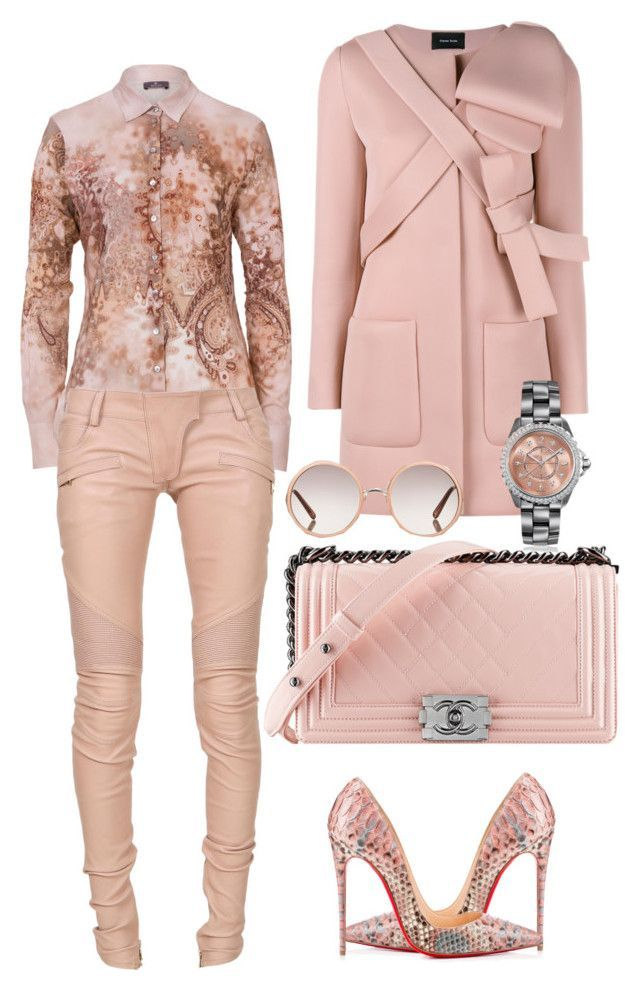 Original Pin: Untitled #221 by scannedbyaaron on Polyvore featuring polyvore fashion style Basler Simone Rocha Balmain Christian Louboutin Chanel Chloé women's clothing women's fashion women female woman misses juniors