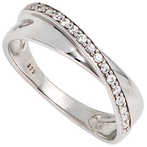 Damen-Ring 10 Diamant-Brillanten 14 Karat (585) Weißgold 0.10 ct. 54 (17.2) Dreambase, http://www.amazon.de/dp/B00EYGOG06/ref=cm_sw_r_pi_dp_-sgVsb0ER8QPV