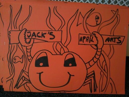 Crab art folder