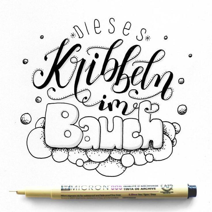 Hand-Lettering Galerie mit Sprüchen, Zitaten und Namen. Handgemalt mit Brushpens, Fineliner oder Schreibfeder.