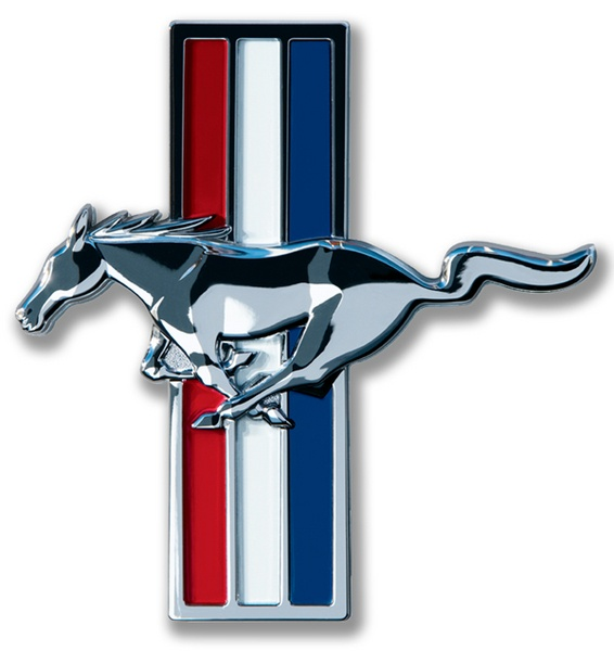 Large Mustang Logo Sign.  More at www.garageart.com