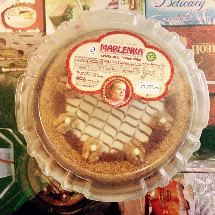 """Торт """"Марленкa"""" медовый замороженный, праздничный, Чехия 0,85 кг  Цена: €13.50  http://www.bogatir.nl/index.php?productID=1430"""