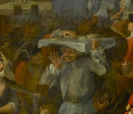 """Foundling Museum. """"Stephanie says 'The chap stealing a pie in Hogarth's March of the Guards to Finchley' """""""