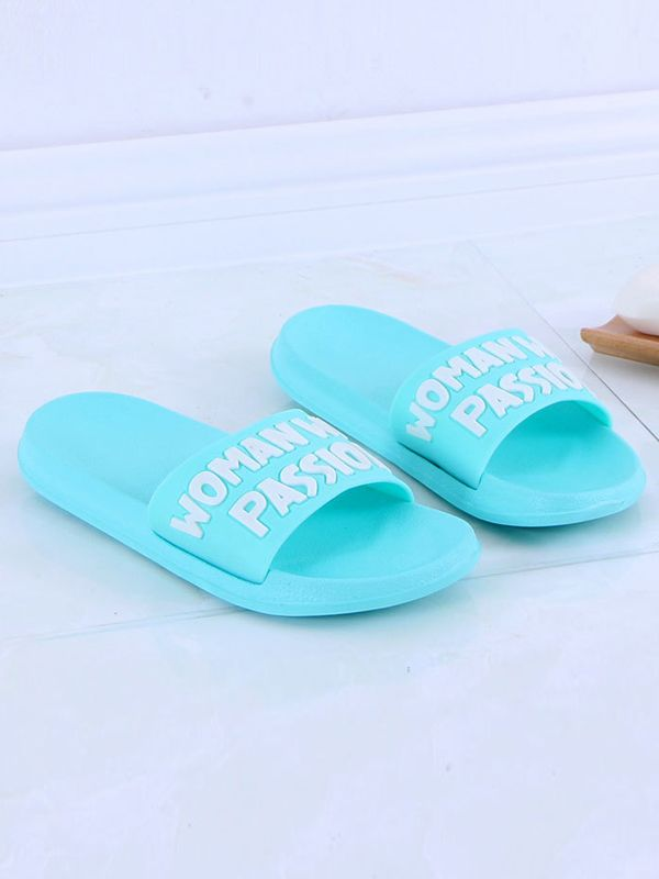 Shop Antiskid Simple Style Letter Plastic Bath Slipper online at Jollychic,FREE SHIPPING!