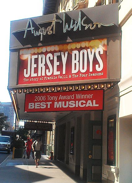 Jersey Boys Theatre Marquee on Broadway - Information, Cast, Crew, Synopsis and Photos - Playbill Vault