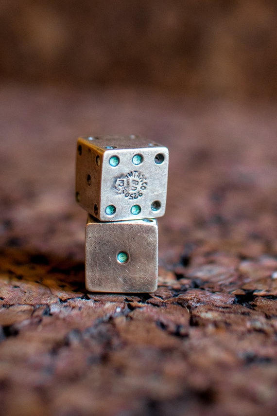 Silver Dice by dappr on Etsy, $63.00