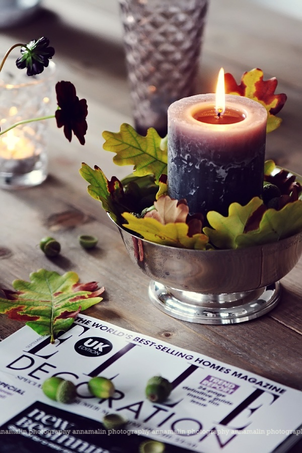 candle with leafs                                 http://heltenkelthosmig.blogspot.com/