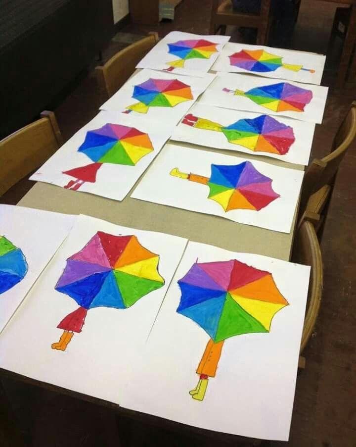 Colour wheel umbrella