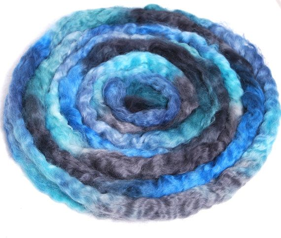 WENSLEYDALE  Hand Painted roving top spinning by YummyYarnsUK