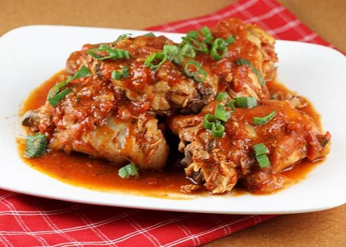 Italian Food Forever » Chicken In Spicy Tomato Sauce