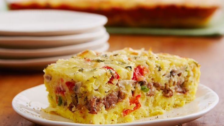 Cheesy Sausage and Egg Bake ● Not just for breakfast! Try it for supper too because you can make it up to 12 hours ahead of time.