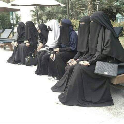Seven Niqabis