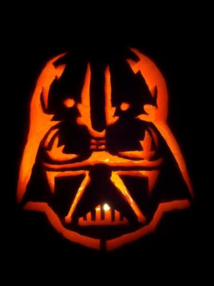 darth vader pumpkin carving - Halloween Darth Vader