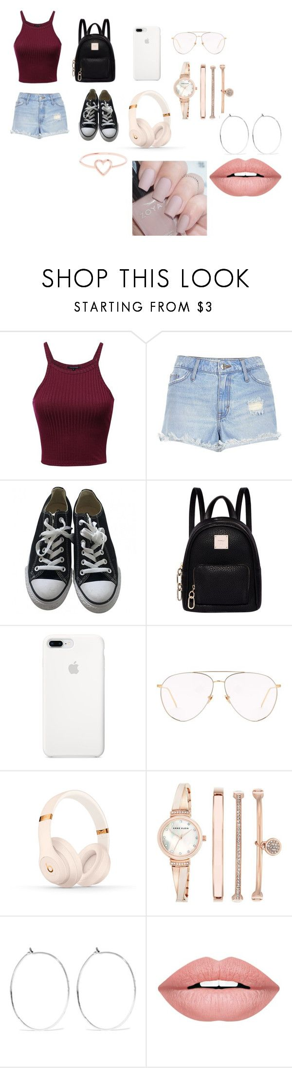 """""""simPLE"""" by skylar-coulter on Polyvore featuring River Island, Converse, Fiorelli, Linda Farrow, Beats by Dr. Dre, Anne Klein, Catbird, Forever 21 and Love Is"""