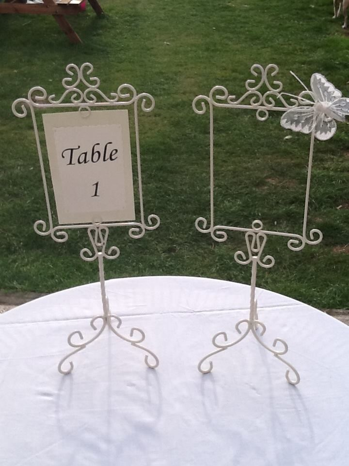 Ivory Table Name/Number Holders available to hire.