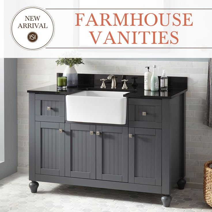 Bring The Farmhouse Sink Into Your Bathroom With The Nellie Farmhouse Sink  Vanity. Available In