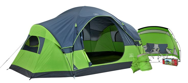 $98?! Free shipping...can't go wrong with this one :)  Ventura 14ft x 8ft 9 Piece Family Camp Combo, Camping | Walmart Canada Online Shopping
