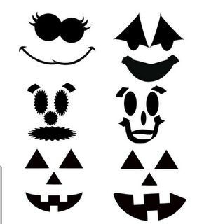 cute jack-o-lantern faces svg file for cutting!