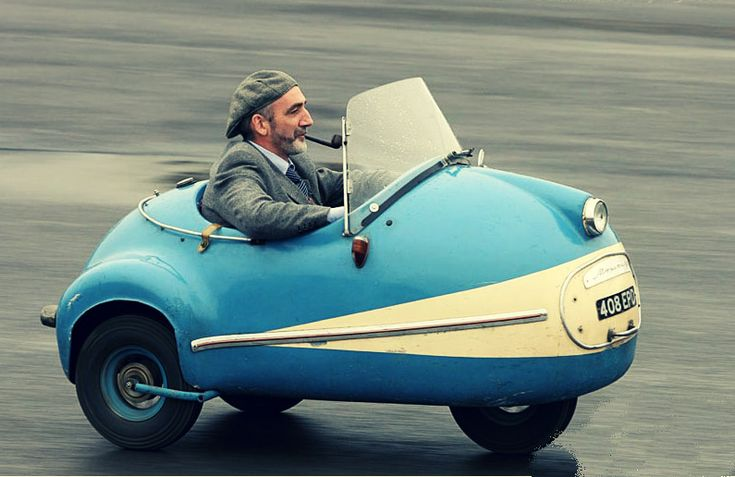 Brutsch Mopetta 2 stroke 50cc, 1956  I need to feel like I'm driving a bumper car to work. Somehow being in a traffic jam seems like it would be more fun.