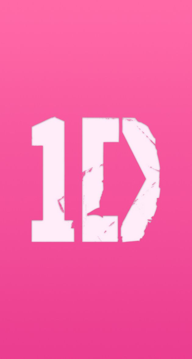 ONE DIRECTION 1D ピンクロゴ iPhone壁紙 Wallpaper Backgrounds iPhone6/6S and Plus ONE DIRECTION Logo Pink