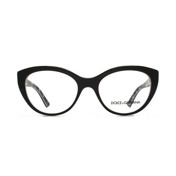 Dolce & Gabbana DG326 Glasses (€120) ❤ liked on Polyvore featuring accessories, eyewear, eyeglasses, black, dolce gabbana eyeglasses, clear eyewear, oversized eyewear, dolce gabbana eyewear and lens glasses