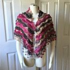 Valentines day gift ideas hand knit shawl, cowl, opal, gift under 35