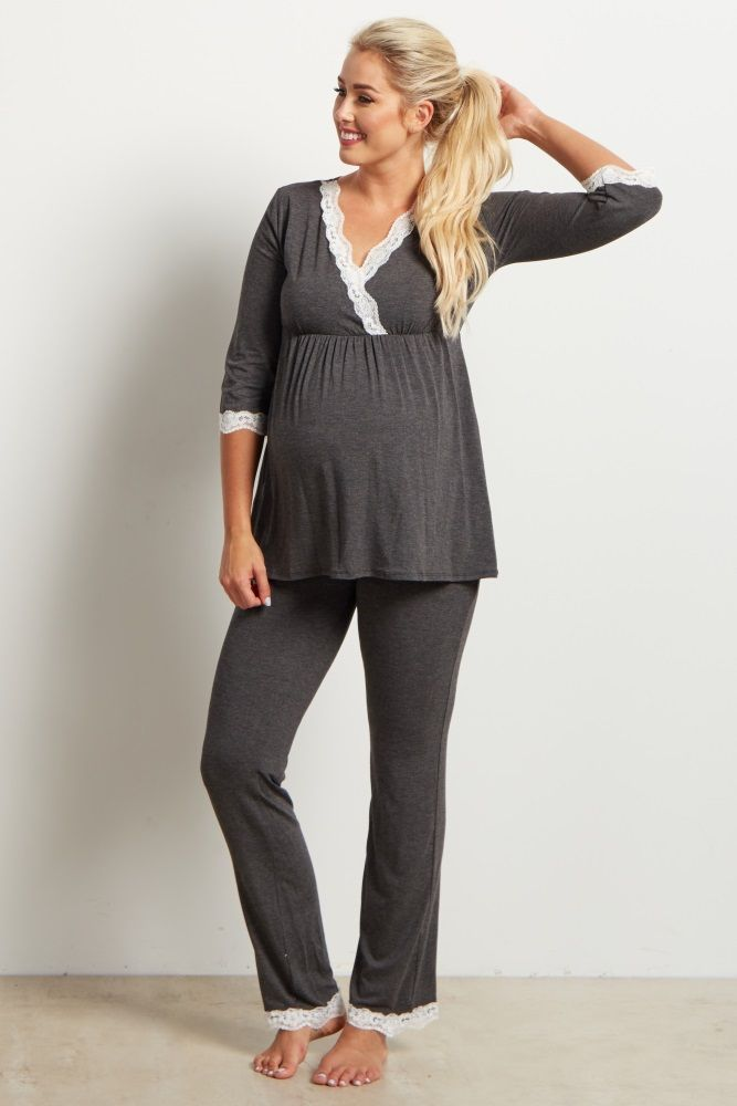 Sleep soundly knowing that you are wearing a maternity pajama pant designed for the most comfortable fit in an incredibly soft material specially for you and your growing bump. This fold over waistband will adjust from week to week to ensure comfort throughout your pregnancy into motherhood.