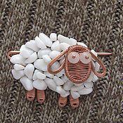 Купить или заказать Кулон из меди и бирюзы 'Слон' в интернет-магазине на Ярмарке Мастеров. Слон - символ мудрости, символ силы, символ семьи, символ достатка. Кулон из медной проволоки разных диаметров выполнен в технике wire wrap без применения пайки и сварки. Полностью ручная работа. Медь покрыта патиной и частично отполирована. Камни в ушах - улучшенная бирюза. На ногах - японский бисер TOXO.Глаза - натуральные гранаты.