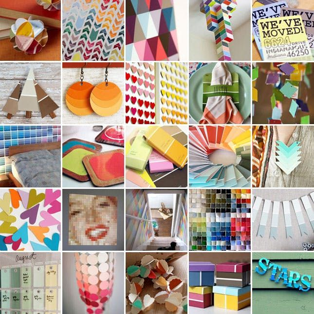 25 Awesome Paint Chip Diy Projects With Images Paint Chips Diy
