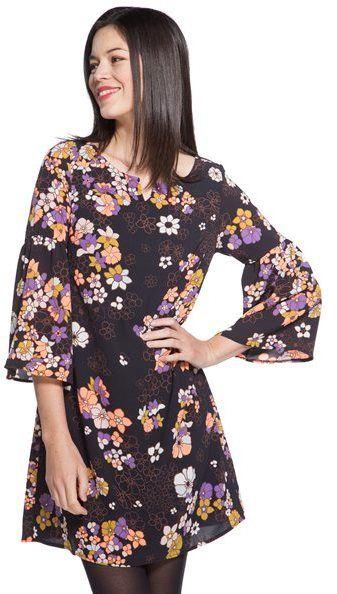 Robe motif grandes fleurs Noir Polyester - Femme Taille 36 - Cache Cache Noir Cache Cache https://api.shopstyle.com/action/apiVisitRetailer?id=497012648&pid=uid0-34412800-36&site=www.shopstyle.fr