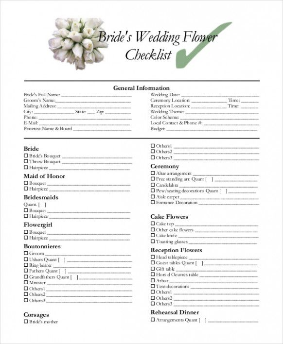 Wedding Decoracion Checklist Check Lists Beach Wedding Hair